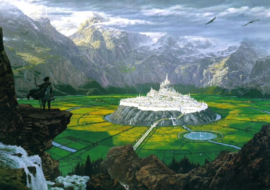"""Tuor Reaches the Hidden City of Gondolin"" (Ted Nasmith)"